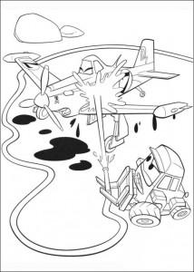 kleurplaat Planes 2 (36)