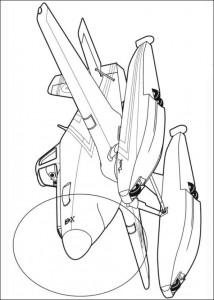 kleurplaat Planes 2 (45)