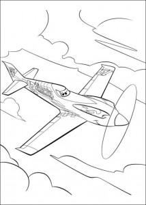 kleurplaat Planes (20)