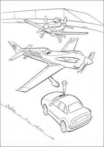 kleurplaat Planes (7)