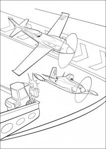 kleurplaat Planes