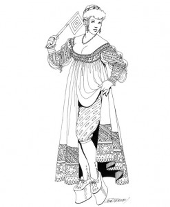 coloring page Platform shoes from 1550