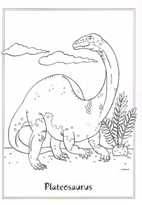 coloring page Plateosuarus