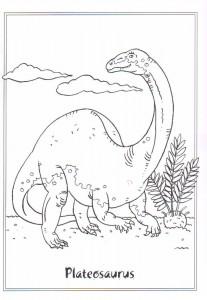målarbok Plateosuarus