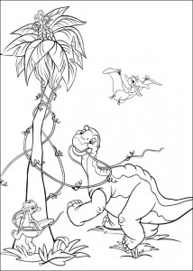 coloring page Platvoet and his friends (10)