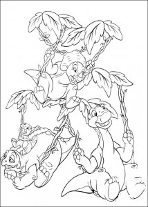 coloring page Platvoet and his friends (11)