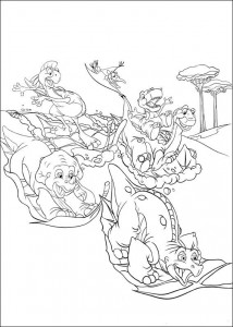 coloring page Platvoet and his friends (13)