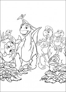 coloring page Platvoet and his friends (14)
