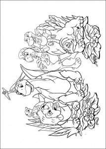 coloring page Platvoet and his friends (22)