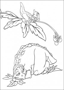coloring page Platvoet and his friends (9)