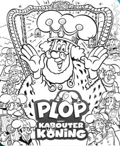 coloring page Plop becomes gnome king