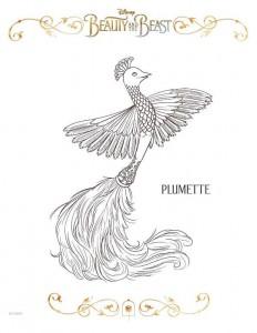 kleurplaat plumette
