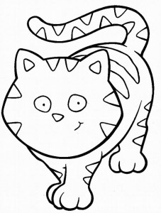 kleurplaat Poezen en katten (1)