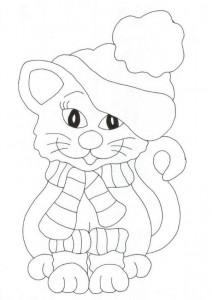kleurplaat Poezen en katten (14)