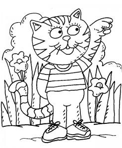 kleurplaat Poezen en katten (17)