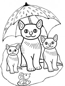 kleurplaat Poezen en katten (18)