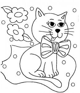 kleurplaat Poezen en katten (19)