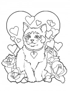 coloring page Cats and cats (21)
