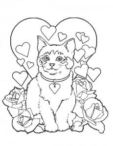 kleurplaat Poezen en katten (21)