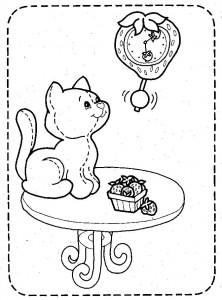 kleurplaat Poezen en katten (23)