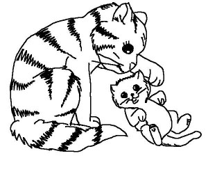 coloring page Cats and cats (24)