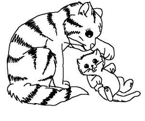 kleurplaat Poezen en katten (24)