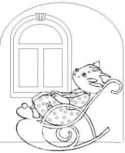 kleurplaat Poezen en katten (29)