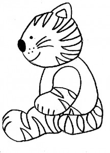 kleurplaat Poezen en katten (3)