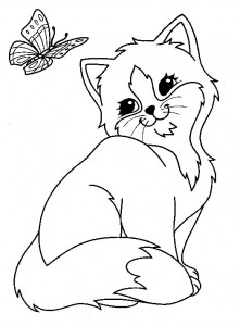 kleurplaat Poezen en katten (33)