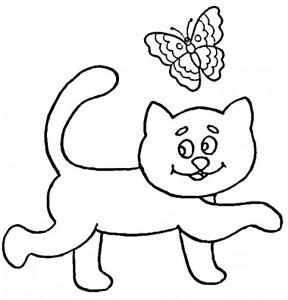 kleurplaat Poezen en katten (34)