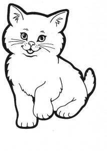 kleurplaat Poezen en katten (44)