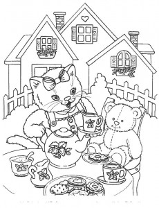 kleurplaat Poezen en katten (46)