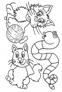 coloring page Cats and cats (47)