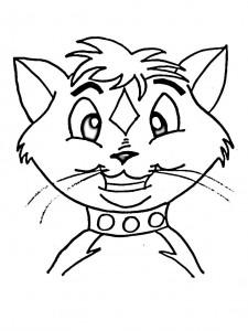 kleurplaat Poezen en katten (5)