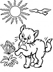 coloring page Cats and cats (7)