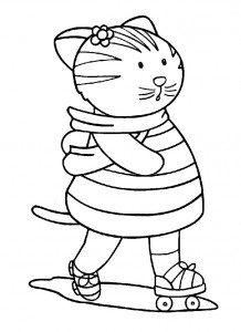 coloring page Cats and cats (8)