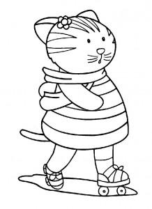 kleurplaat Poezen en katten (8)