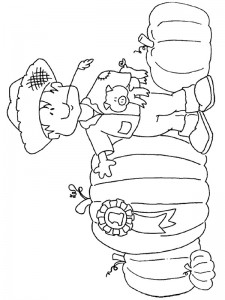 coloring page Pumpkins champion