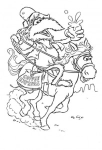 kleurplaat Pony Express
