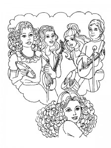 coloring page Pop group