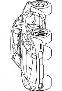 kleurplaat Porsche (1)
