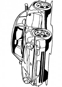 målarbok Porsche