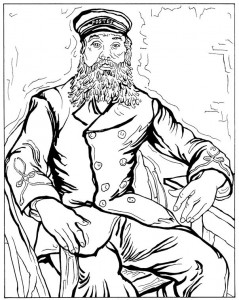 coloring page Postman Joseph Roulin 1888
