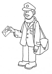 coloring page Postmann
