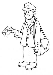 målarbok Postman