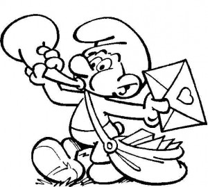 coloring page Postsmurf