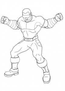 power man coloring page