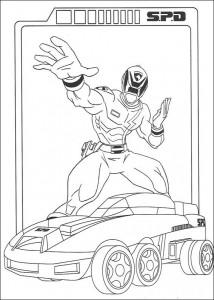 kleurplaat Power Rangers (11)