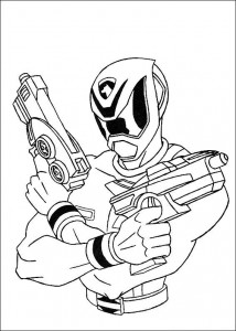 kleurplaat Power Rangers (14)