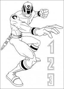 kleurplaat Power Rangers (17)